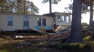 Hurricane Irene Damaged Mobile Home in Arapahoe NC