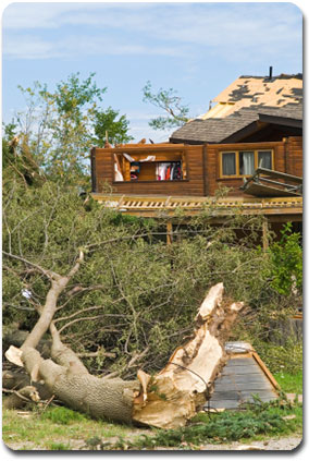 Tornado damage - property loss