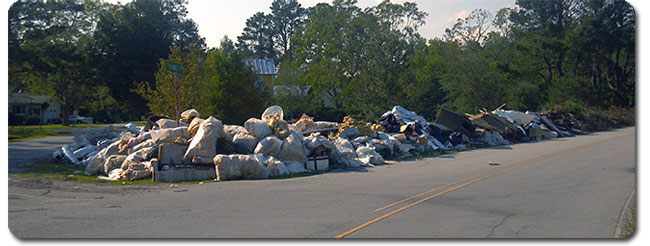 Hurricane Irene Trash Pile- NC Public Adjuster Claim